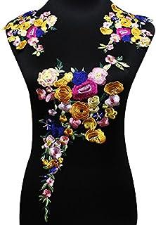 comprar comparacion Juego de parches florales bordados para hacer manualidades, accesorios, apliques, decoraciones, etc.