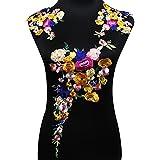Juego de parches florales bordados para hacer manualidades, accesorios,...