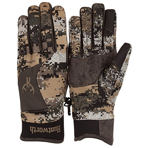 Huntworth Men's Mid Weight, Faux Fur Lined Hunting Gloves, Disruption, X-Large