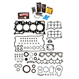 Evergreen Engine Rering Kit FSBRR4017 Compatible With 97-01 Honda Prelude 2.2L H22A4 Full Gasket Set, Standard Size Main Rod Bearings, Standard Size Piston Rings