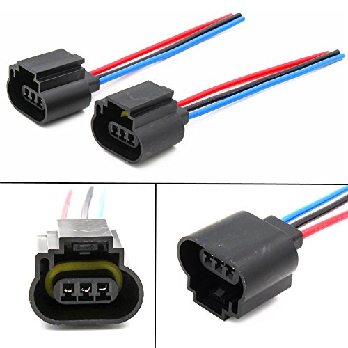 Alla Lighting H13 9008 H13LL Socket Female Adapter Wiring Harness Wire for Fog Light Lamps Bulbs (2pcs/pk)