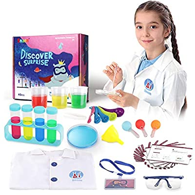 SNAEN Science Kit with 30 Science Lab Experiments,DIY STEM Educational Toys for Kids Aged 3 4+,Non-Hazardous, Bottle Packaging, Discover in Learning from JUYUE