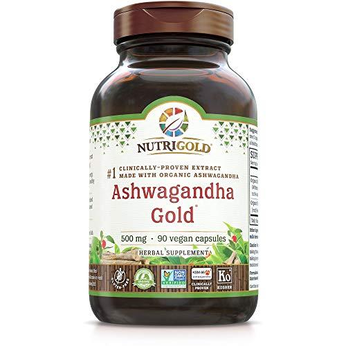 NutriGold Organic Ashwagandha Gold, 500 mg (90 Plantcaps)