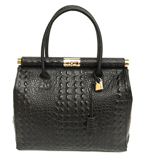 Superflybags Handbag Model Alina Cayman Superflybags Ballet Handbag In Genuine Leather Made In Italy