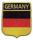 b2see Iron on Bügel Aufnäher Fahne Patches Flicken Aufbügler Bügelbild Applikation Flagge Sticker-Ei Schild Deutschland BRD 7 x 6 cm