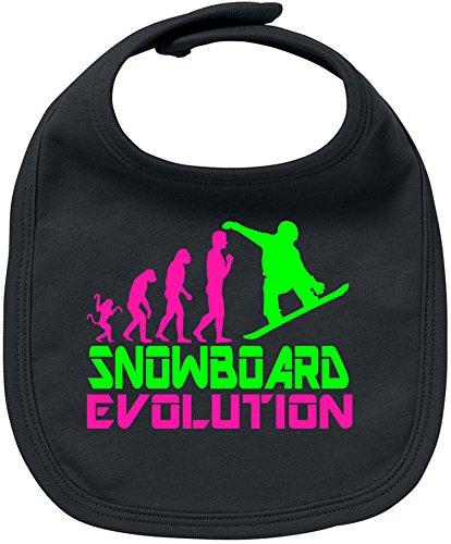 EZYshirt® Snowboard Evolution Baby Lätzchen Halstuch