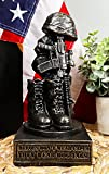 Ebros American Pride Patriotic Fallen Soldier Solemn Memorial Statue 8' Tall Military Rifle Helmet Boots Dog Tag Sculpture for Desktop Shelves Office Study Table Home Decor Figurine