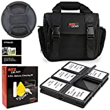 Ritz Gear Deluxe Camera/Video Shoulder Bag for Canon EOS Rebel T6 T7 T5i T6i T7i EOS 90D 80D 70D 6D EOS Sl3 SL2. Bundle Includes, 58mm Lens Cap, 5-Piece Cleaning Kit, Screen Protectors
