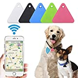 AFXOBO Mini Triangle GPS Tracking Device Locator, Portable Bluetooth Intelligent Anti-Lost Alarm Device for Luggages/Kids/Pets/Keys