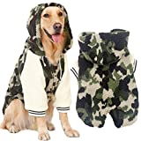 XDYFF Dog Cold Weather Coats for Large Breeds, Thicker Hoodie Lamb Cashmere Jacket, Pet Clothes for Golden Retriever, Labrador, Samoyed, Border Shepherd, Large Dog,6XL