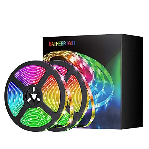 LED Strip 10M, LED Streifen 10M Bluetooth RGB Led Lichterkette LED Band Stripes mit Farbwechselnde Bandbeleuchtung mit Fernbedienung für Wohnzimmer, Küche, Schlafzimmer, Decke, Schrank