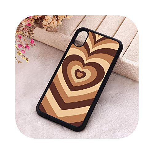 KASHINO 5 5S SE 2020 funda de teléfono para iPhone 6 6S 7 8 Plus X Xs Max XR 11 12 Mini Pro silicona suave Latte Love Coffee Heart-para iPhone 7 Plus
