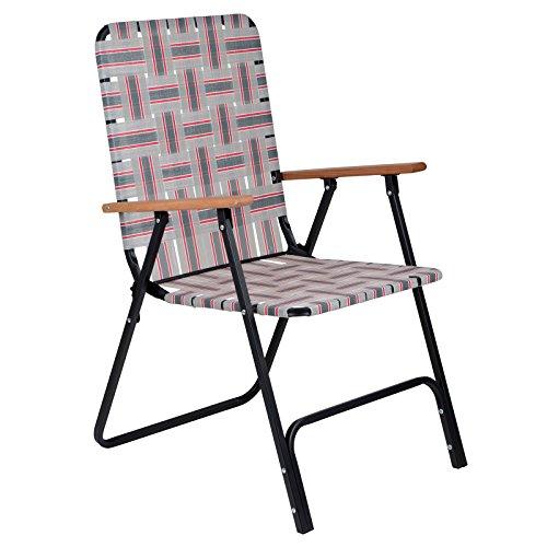 Bo-Camp Unisex's Urban Outdoor-Lawn Stuhl, Grau, Einheitsgröße
