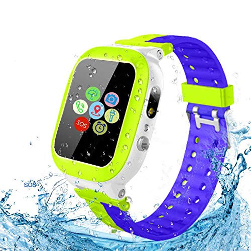 Kids Smartwatch Waterproof with LBS Tracker HD Touch Screen Smart Watch Phone SOS Camera Games...