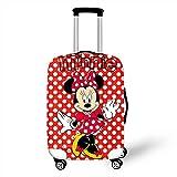 ZHIRUI Funda protectora para equipaje con estampado de Minnie Mickey en 3D, funda de viaje a prueba de polvo y elastano de alta elasticidad