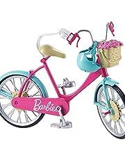 Barbie DVX55 - Barbie-cykel med korg med blommor
