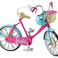  This Barbie bicycle is ready to roll  Real working pedals and wheels make riding it a breeze  Place Barbie doll (sold separately) on the seat where a clip holds her in place Slide her feet into the pedals and her hands onto the handlebars and pus...