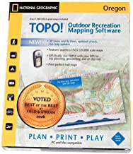 National Geographic TOPO! Outdoor Recreation Mapping Software Oregon