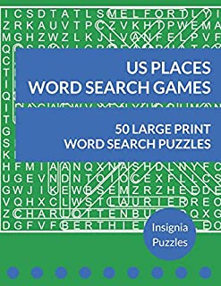 US Places Word Search Games: One Puzzle Per Page