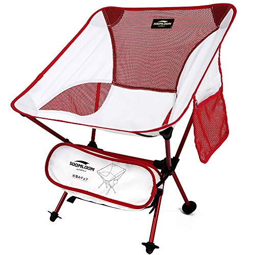 Soomloom超軽量チェア 折りたたみ椅子 コンパクト多色 オックスフォード ベンチ 収納バッグ付き お釣り キャンプ 登山 バーベキュー 屋内・アウトドア