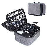 BERTASCHE Kabel Taschen Groß Kabeltasche mit 11 Zoll Tabletfach für Reise Arbeit Uni Elektronik...