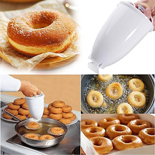 Donut Maker - Donut Backform - Teigspender Edelstahl Pfannkuchen Teigspender für Donuts - für köstliche Mini Doughnuts - selbstgemachtes Dessert-DIY Werkzeug Küchengebäck