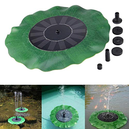 Transer Solar Bird bath Fountain Pump for Garden and Patio, Free Standing 1.4W Solar Panel Kit Water Pump, Outdoor Watering Submersible Pump (Green)