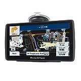 MekedeTech GPS Poids Lourds 7 Pouces Europe 52 Carte Système de Navigation Automatique à Ecran Tactile Utilisation dans Poids Lourds et Voiture Bleu 8G 256M