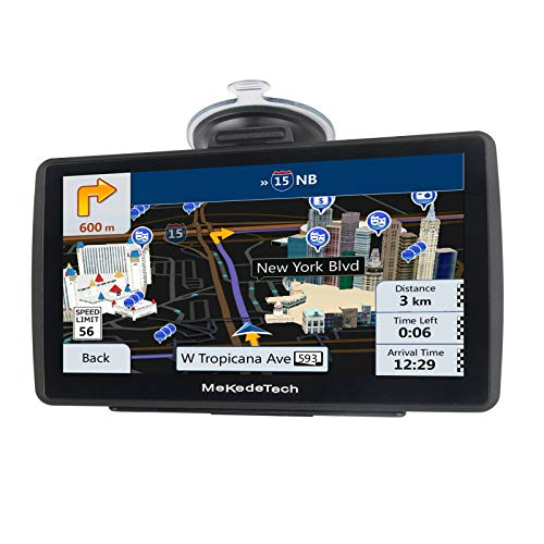 MekedeTech Sat Nav for Car truck Latest 2020 Map Touchscreen 7 inch 8G 256M Navigation System with Voice Guidance and Speed Camera Warning, Lifetime Free Map Update Blue
