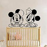 Tianpengyuanshuai Mouse Wall Decal Headboard Nursery Cartoon Anime Mouse Wall Sticker Vinilo Decoración 45X28cm