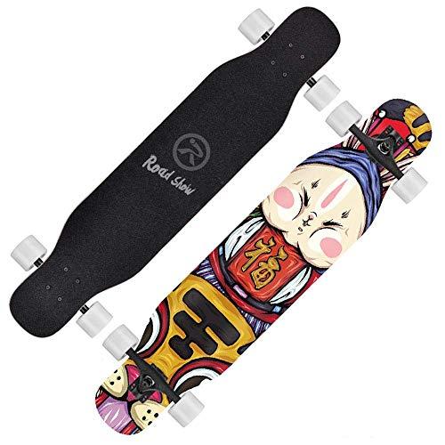 LKCAK Skateboard Double Skateboard Maple Deck Round 2 Geeignet für Anfänger und Kinder Skateboarding