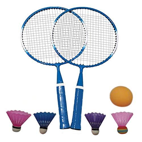 DOUBLE NICE Bádminton Bádminton Set Durable Lightweight Children Badminton Raqueta Raqueta Sports Shuttlecock Niños Juguete Juegos Outdoor Games Entretenimiento bádminton Pluma (Color : Blue)