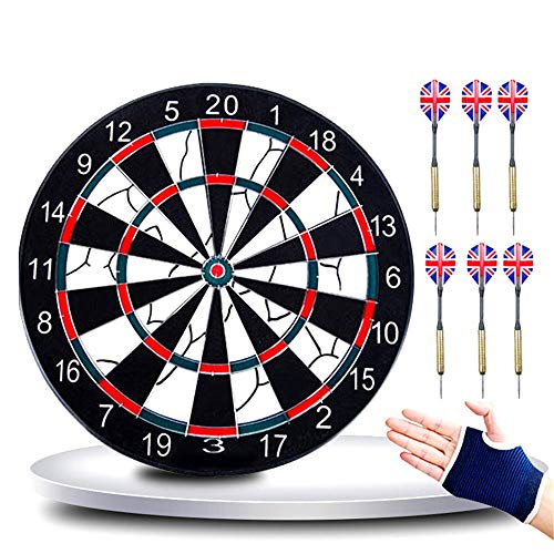 Lowest Prices! Dart Board 18 Inch Dart Board Set Large Thick Double-Sided Flocking Dart Target Leisu...