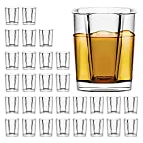 30 Pack Heavy Base Shot Glasses Bulk, Vivimee 2.2 oz Square Shot Glasses Set, Clear Espresso Shot Glass, Small Whiskey Shot Glasses for Vodka, Whiskey, Tequila, Espressos, Spirits & Liquors