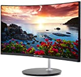 Sceptre C248W-1920R 24' Curved 75Hz Gaming LED Monitor Full HD 1080P HDMI DisplayPort VGA Speakers Ultra Thin Metal Black