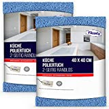Filzada ® 2X Hochglanz Tuch Küche - Streifenfreier Glanz Ohne Fussel - Für Hochglanzflächen und Edelstahl