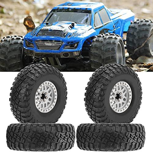 Rueda de neumático RC, neumáticos de camión de neumáticos de Caucho de 1:10 para Hsp/Tamiya/Axial SCX10 D90(White)