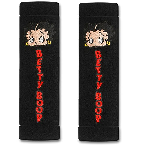 2PC Betty Boop Face Design Seat Belt Shoulder Pads for Car Truck SUV