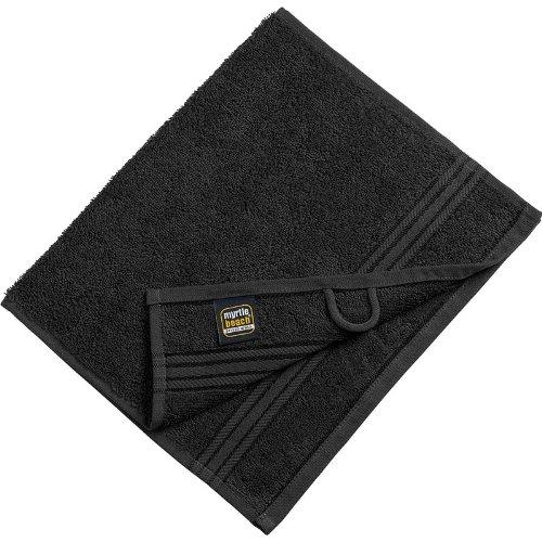 Myrtle Beach - lot 3 serviettes de toilette invité - noir - 30 x 50 cm - MB420