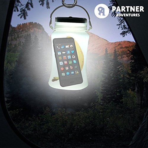 CEXPRESS - Bidón LED Solar de Silicona Partner Adventures