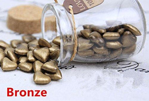 MDLG 90 stks brons hart vorm gebotteld glas voor Wax afdichting stempel vintage bruiloft uitnodigingen kaars maken geschenkkaarten afdichting envelop Wax stokken kralen