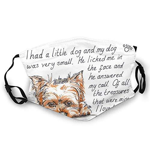 Garitin Gesichtsmaske I Had A Little.Yorkshire Terrier DruckMaske, Hut, Halstuch, Kopfbedeckung für Damen und Herren