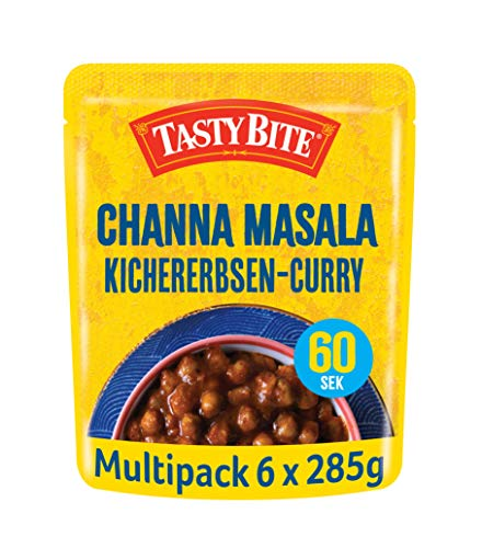 Tasty Bite Indisches Channa Masala – vegetarisches Kichererbsen-Curry, 6x285g