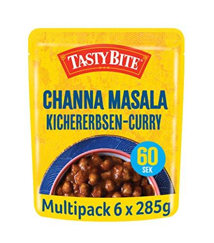 Tasty Bite Indisches Channa Masala – vegetarisches Kichererbsen-Curry, 6x285g
