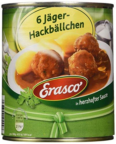 Erasco 6 Jäger - Hackbällchen, 2er Pack (2 x 800 g)