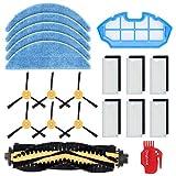 DingGreat Accesorios para Robot Aspirador Cecotec Conga Excellence 990, Paquete de 1 cepillos Principales, 6 filtros, 6 cepillos Laterales, 1 Filtro primario, 5 Toallitas de Microfibra