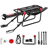 Proberos® Rear Bike Rack Carrier for Panniers Bags, Luggage, 50kg Load, Aluminum Alloy