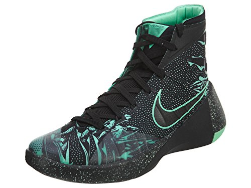 Nike Hyperdunk 2015 PRM, Zapatillas de Baloncesto Hombre, Negro/Verde/Gris (Black/Green Glow-Anthracite), 40
