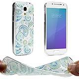 Urcover® Trend Fashion Schutzhülle kompatibel mit Samsung Galaxy S4 Mini Hülle in Paisley | Zubehör Tasche TPU Hülle Handy-Cover Schale