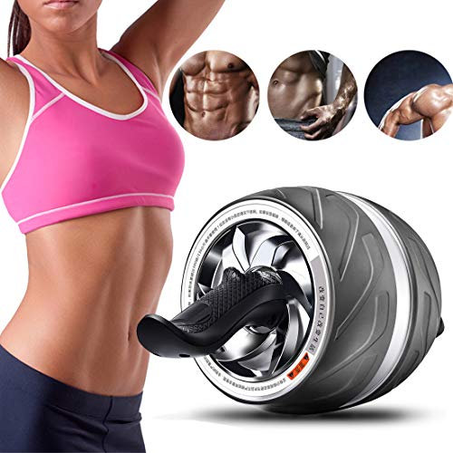 Ab Wheel Roller Abs Wheel Roller Workout Machine Core Abs Trainer Cruncher voor Gym of Home Use,White